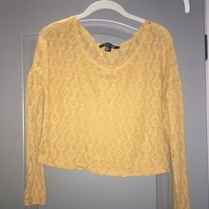Lace mustard cover up